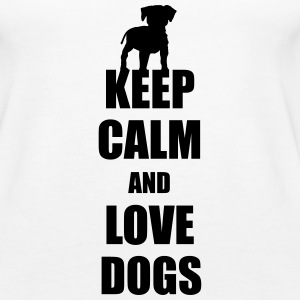 Keep calm love dogs Tops - Frauen Premium Tank Top