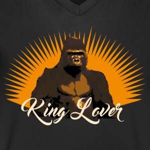 Gorille king lover Tee shirts - T-shirt Homme col V