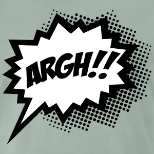Gråmelerad Comic ARGH!, Super Hero, Cartoon, Speech Bubble Byxor - Premium-T-shirt herr