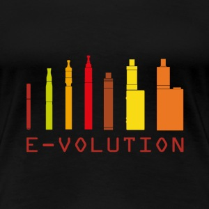 Vape Design Color Ecigs T-shirts - Dame premium T-shirt