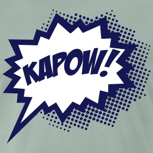 KAPOW!, Comic Style Speech Bubble Bang, Boom, Pow  - Men's Premium T-Shirt
