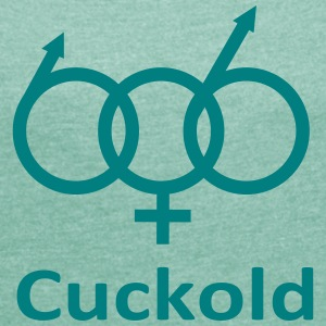 cuckold T-Shirts - Women's T-shirt with rolled up sleeves