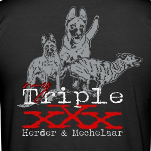 triple x-Herder & x-Mechelaar T-Shirts - Männer Slim Fit T-Shirt