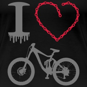 i love my bike Kette Herz Enduro Freeride MTB Pro - Frauen Premium T-Shirt