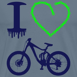 i love my bike Neon Cross Country Downhill T-Shirt - Männer Premium T-Shirt