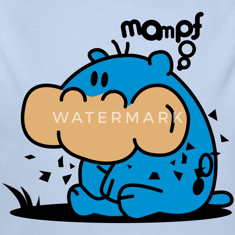 mampfred the hippo - Baby Bio-Langarm-Body