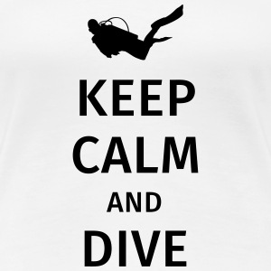 keep calm and dive T-shirts - Premium-T-shirt dam