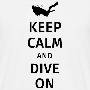 keep calm and dive on T-shirts - Herre-T-shirt