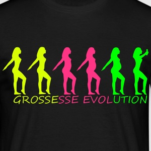tee shirt evolution grossesse 3colors flash - T-shirt Homme