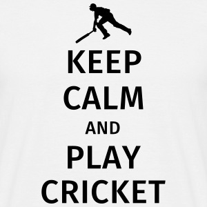 keep calm and play cricket Magliette - Maglietta da uomo