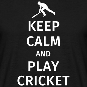 keep calm and play cricket T-Shirts - Männer T-Shirt