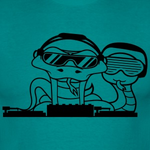 crew 2 snakes buddies duo team dj party club celeb T-Shirts - Men's T-Shirt