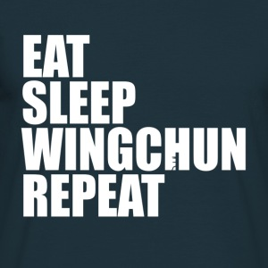 eat sleep wingchun T-Shirts - Männer T-Shirt