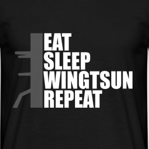 eat sleep wingtsun dummy T-Shirts - Männer T-Shirt