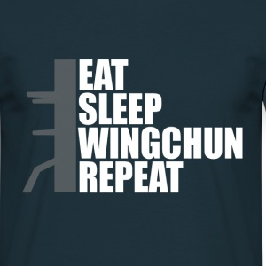 eat sleep wingchun dummy T-Shirts - Männer T-Shirt