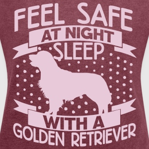 Feel safe at night - Retriever T-Shirts - Women's T-shirt with rolled up sleeves