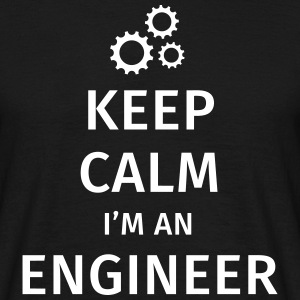Keep Calm I'm an Engineer T-skjorter - T-skjorte for menn
