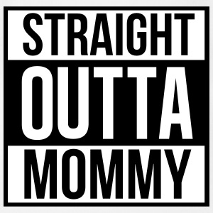 Straight outta mommy Babybody - Økologisk kortermet baby-body