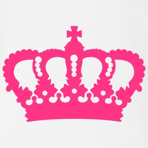 Crown King Queen Prinz Princess Royal pink Baby Bodysuits - Organic Short-sleeved Baby Bodysuit