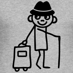 Man with trolley T-Shirts - Men's Slim Fit T-Shirt