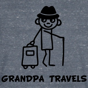 Grandpa travels T-Shirts - Men's V-Neck T-Shirt