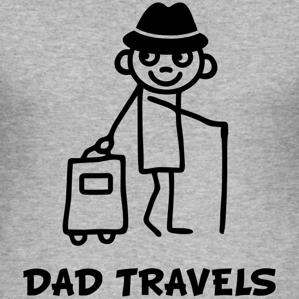 Dad travels T-Shirts - Men's Slim Fit T-Shirt