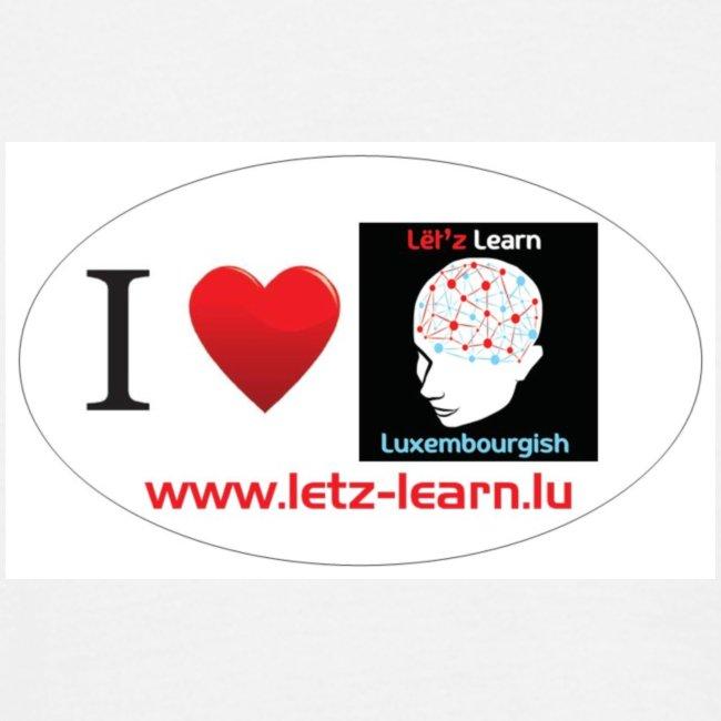 Hären T-Shirt I love Lët'z learn Luxembourgish