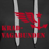 Motiv ~ Kapuzenpulli Damen - Krad-Vagabunden - roter Druck