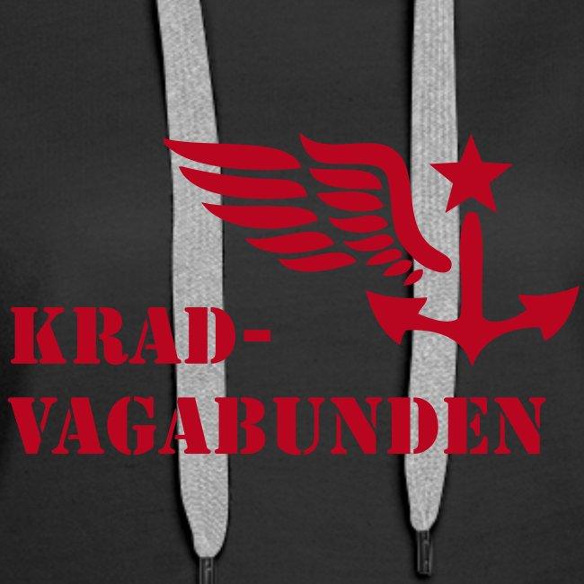 Kapuzenpulli Damen - Krad-Vagabunden - roter Druck