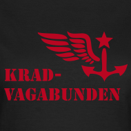 Motiv ~ T-Shirt Damen - Krad-Vagabunden - roter Aufdruck