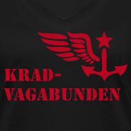 Motiv ~ V-Shirt Damen - Krad-Vagabunden - roter Aufdruck