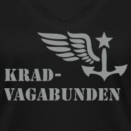 Motiv ~ V-Shirt -  Damen - Krad-Vagabunden - grauer Aufdruck