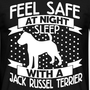 Feel safe at night - Jack Russell Terrier T-Shirts - Men's T-Shirt