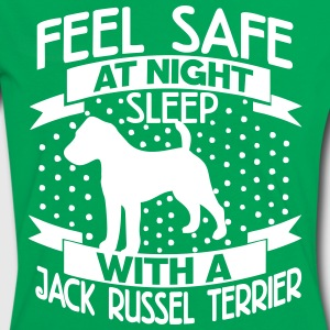 Feel safe at night - Jack Russell Terrier T-Shirts - Women's Ringer T-Shirt