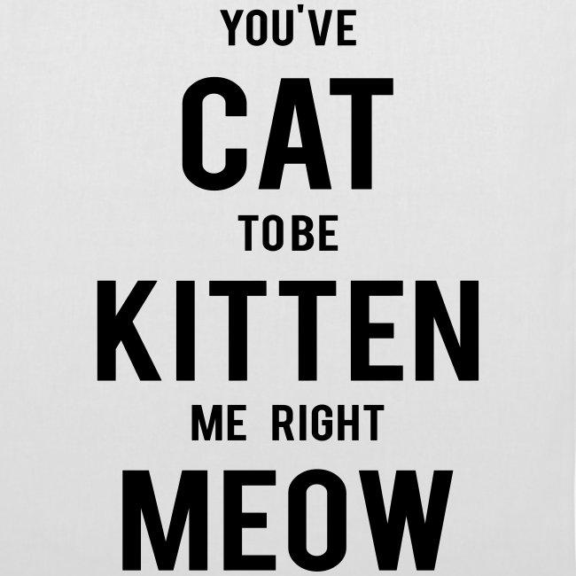 CAT to be KITTEN me Stoffbeutel