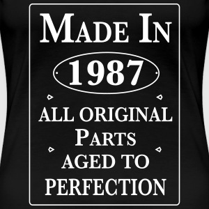 made in 1987 birthday T-Shirts - Frauen Premium T-Shirt