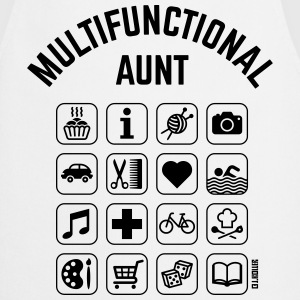Multifunctional Aunt (16 Icons)  Aprons - Cooking Apron