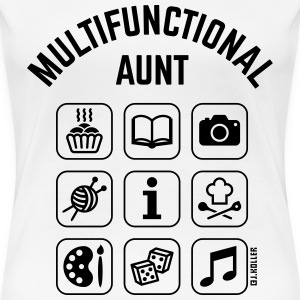 Multifunctional Aunt (9 Icons) T-Shirts - Women's Premium T-Shirt