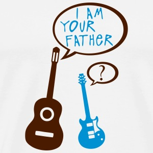 Acoustic electric guitar your father T-Shirts - Men's Premium T-Shirt