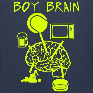 Boy brain tennis TV beer sex Sports wear - Men's Premium Tank Top