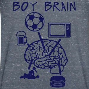 boy brain football TV beer sex quote eat T-Shirts - Men's V-Neck T-Shirt