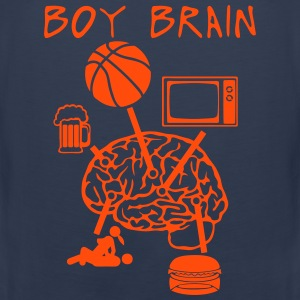 boy brain basketball TV beer sex Sports wear - Men's Premium Tank Top