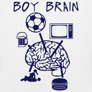 boy brain football TV beer sex quote eat Sports wear - Men's Premium Tank Top