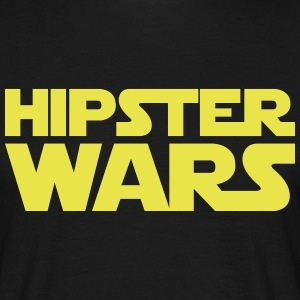 Hipster Star Wars Shirt Black/Yellow - Männer T-Shirt