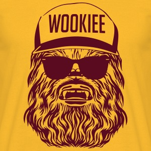 Start Wars Chewbacca Hipster Shirt yellow/deepred - Männer T-Shirt
