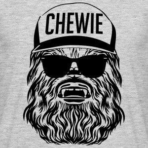 Start Wars Chewbacca Hipster Shirt gray/black - Männer T-Shirt