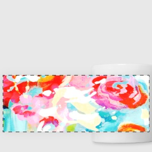 Abstract flowers Mugs & Drinkware - Panoramic Mug