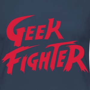 geek fighter Manga larga - Camiseta de manga larga premium mujer