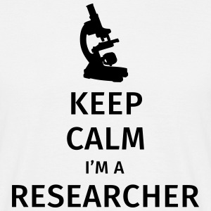Keep Calm I'm a Researcher Camisetas - Camiseta hombre