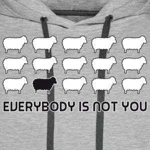 everybody is not you Gensere - Premium hettegenser for menn
